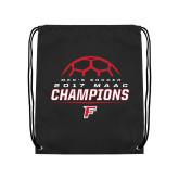 Black Drawstring Backpack-2017 Mens Soccer Champions