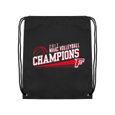 Black Drawstring Backpack-2017 Volleyball Champions