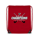 Red Drawstring Backpack-2017 Field Hockey Champions