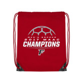 Red Drawstring Backpack-2017 Mens Soccer Champions