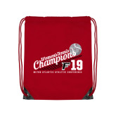 Red Drawstring Backpack-2019 Womens Tennis Conference Champions