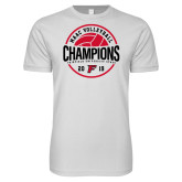 Next Level SoftStyle White T Shirt-2019 Volleyball Champions