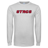 White Long Sleeve T Shirt-Stags