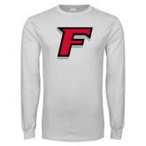 White Long Sleeve T Shirt-F