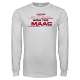 White Long Sleeve T Shirt-Won the MAAC Womens Swimming and Diving