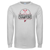 White Long Sleeve T Shirt-2019 Womens Lacrosse Champions