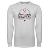 White Long Sleeve T Shirt-2019 Womens Lacrosse Champions