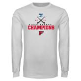 White Long Sleeve T Shirt-2019 Field Hockey Champions