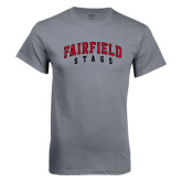 Charcoal T Shirt-Fairfield Stags Stacked