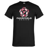 Black T Shirt-Soccer Geometric Ball
