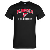 Black T Shirt-Field Hockey Arched