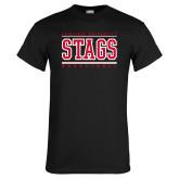 Black T Shirt-Basketball Stacked
