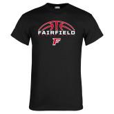 Black T Shirt-Basketball Half Ball