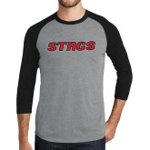 Grey/Black Tri Blend Baseball Raglan-Stags