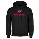 Black Fleece Hoodie-Baseball Type with Icon