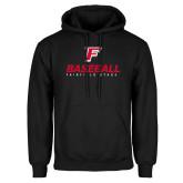 Black Fleece Hood-Baseball Type with Icon