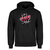 Black Fleece Hoodie-Basketball Angled in Ball