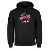 Black Fleece Hoodie-Basketball Angled in Ball