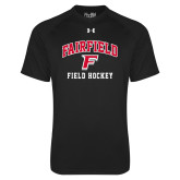 Under Armour Black Tech Tee-Field Hockey Arched