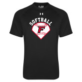 Under Armour Black Tech Tee-Softball Diamonds with Seams