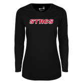 Ladies Syntrel Performance Black Longsleeve Shirt-Stags