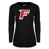 Ladies Syntrel Performance Black Longsleeve Shirt-F