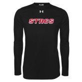 Under Armour Black Long Sleeve Tech Tee-Stags