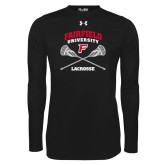 Under Armour Black Long Sleeve Tech Tee-Lacrosse Arched Cross Sticks