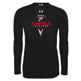 Under Armour Black Long Sleeve Tech Tee-Lacrosse Geometric Head
