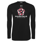 Under Armour Black Long Sleeve Tech Tee-Soccer Geometric Ball