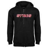 Black Fleece Full Zip Hoodie-Stags