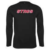 Performance Black Longsleeve Shirt-Stags