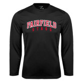 Syntrel Performance Black Longsleeve Shirt-Fairfield Stags Stacked