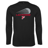 Performance Black Longsleeve Shirt-Lacrosse Modern