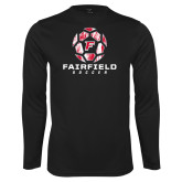 Performance Black Longsleeve Shirt-Soccer Geometric Ball