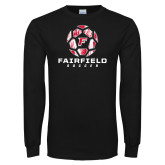 Black Long Sleeve TShirt-Soccer Geometric Ball