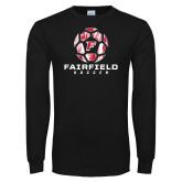 Black Long Sleeve TShirt-Soccer Geometric Ball