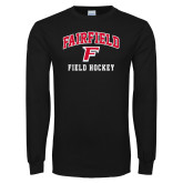 Black Long Sleeve TShirt-Field Hockey Arched