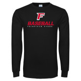 Black Long Sleeve TShirt-Baseball Type with Icon
