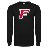 Black Long Sleeve TShirt-F Distressed