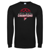 Black Long Sleeve T Shirt-2017 Mens Soccer Champions