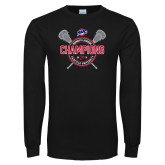 Black Long Sleeve T Shirt-MAAC 2018 Womens Lacrosse Champions
