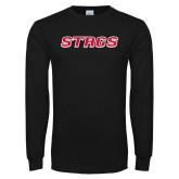 Black Long Sleeve TShirt-Stags