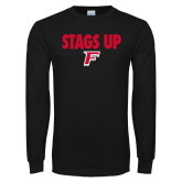 Black Long Sleeve TShirt-Stags Up