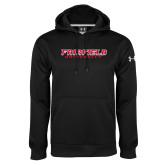 Under Armour Black Performance Sweats Team Hoodie-Fairfield University Stacked