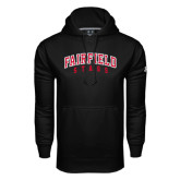 Under Armour Black Performance Sweats Team Hood-Fairfield Stags Stacked