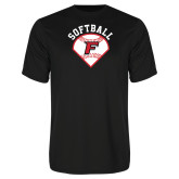Performance Black Tee-Softball Diamonds with Seams