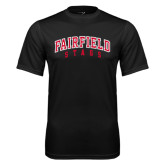 Syntrel Performance Black Tee-Fairfield Stags Stacked