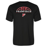 Performance Black Tee-Basketball Half Ball