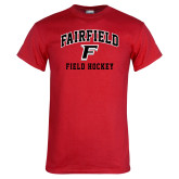 Red T Shirt-Field Hockey Arched